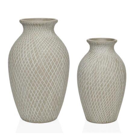 jarrones cerámica gris