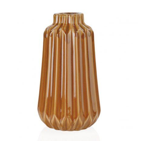 jarrón cerámica marrón