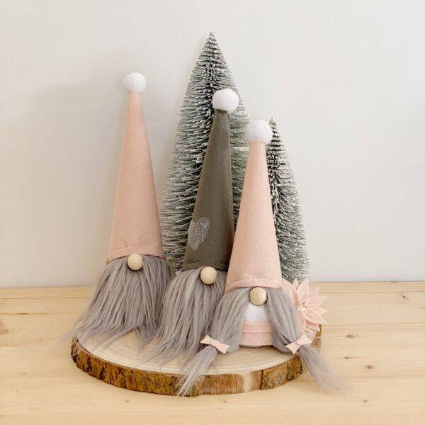 gnomos de navidad. decoración navideña
