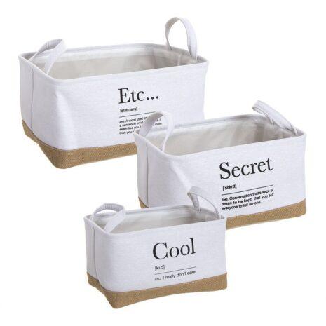 cestos almacenamiento con texto