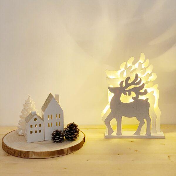 Renos con luz. Adornos navideños