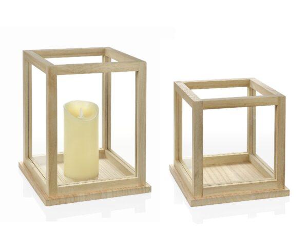 Iluminación: portavelas estilo nórdico de madera