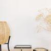 Cajas decorativas de madera y fibras naturales