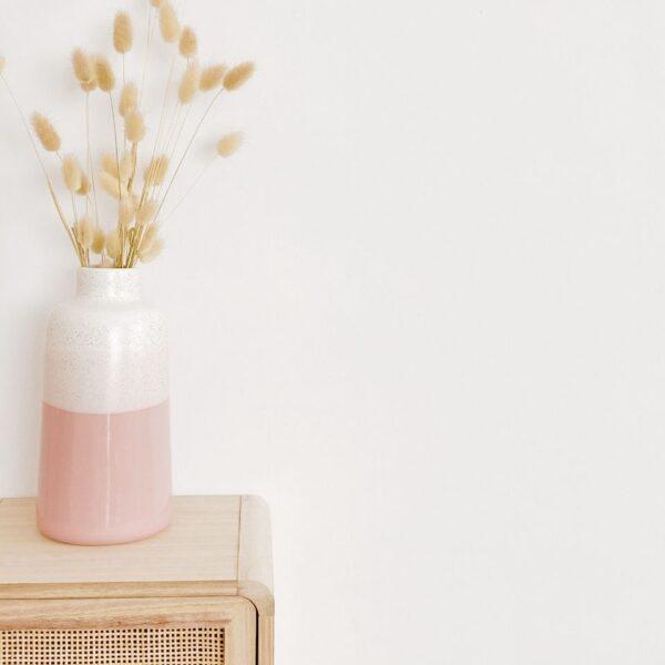 jarrón de porcelana bicolor