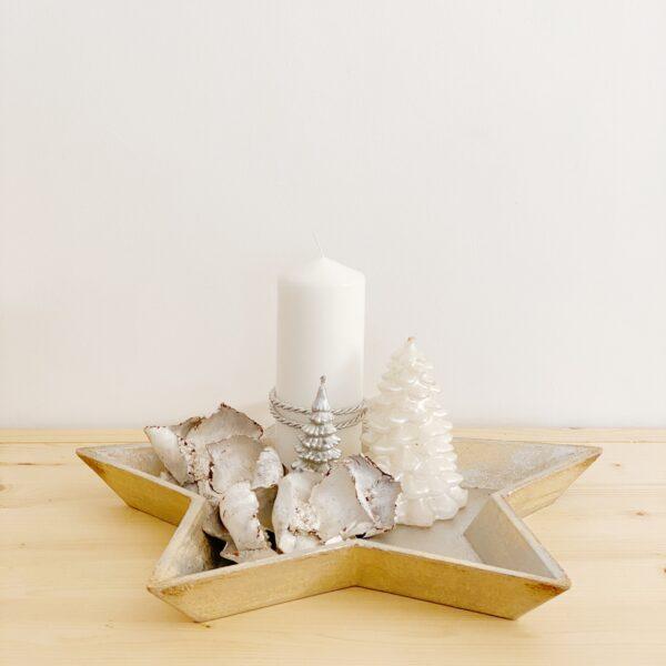 centro de mesa para navidad. Bandeja decorativa
