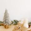 diy: adornos navideños de madera y fibras naturales