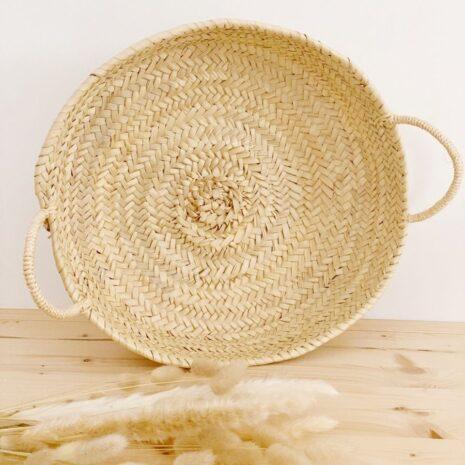 cesto decorativo de fibras naturales