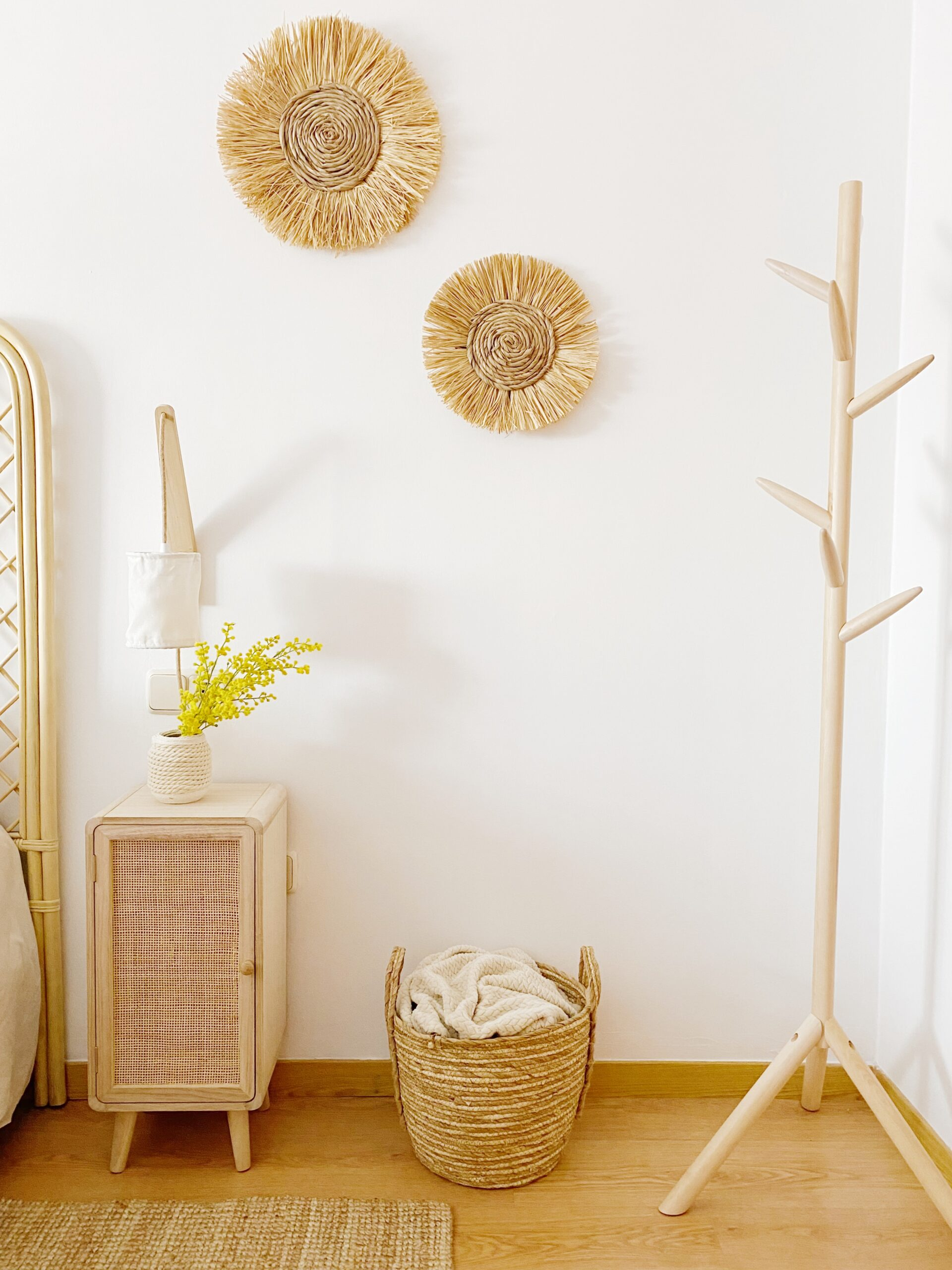 dormitorio de fibras naturales