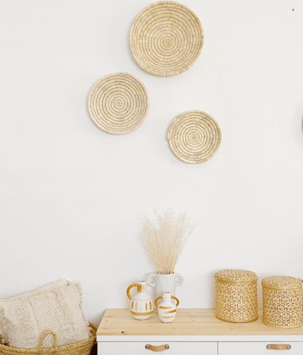 platos decorativos de palma